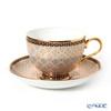 Buran Benjarong 'Krachan Gray' Tea Cup & Saucer