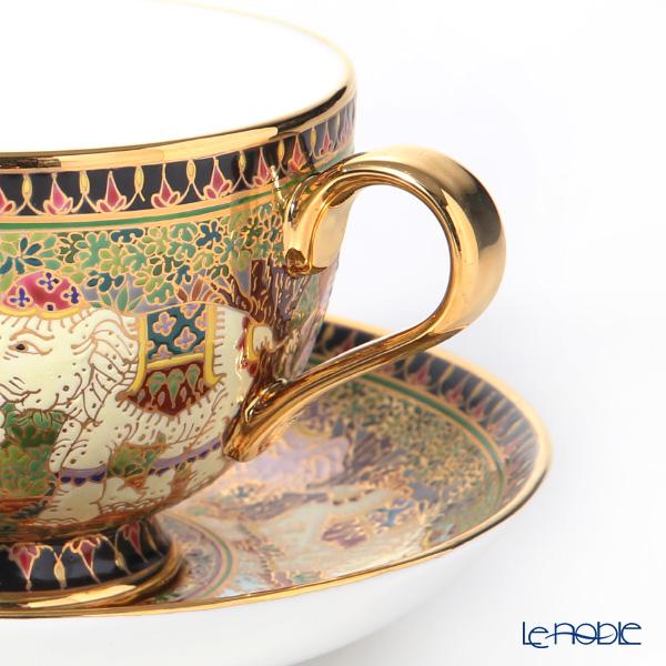 Buran Benjarong 'Thai Elephant' Tea Cup & Saucer
