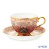 Buran Benjarong 'Cho Phueksa (Botanical Bouquet)' Pink Tea Cup & Saucer