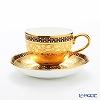 Benjarong ware Manufactory Blanc chakrirmatgold Mocha Cup & Saucer