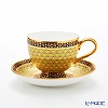Buran Benjarong 'Kaw Lham Tad Y (Fire Gold)' Mocha Cup & Saucer