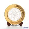 Benjarong ware and Kobo Blanc 16 cm plate Lot name gold