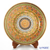 Benjarong ware and Kobo Blanc 21 cm plate Arabesque yellow