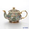 Buran Benjarong 'Cho Phueksa (Botanical Bouquet)' Turquoise Blue Tea Pot 500ml