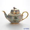 Buran Benjarong 'Cho Phueksa (Botanical Bouquet)' Turquoise Blue Tea Pot 1100ml