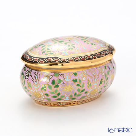 Buran Benjarong 'Cho Phueksa (Botanical Bouquet)' Pink Oval Box