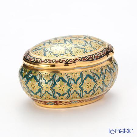 Buran Benjarong 'Sek Koracha' Green Oval Box