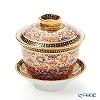 Buran Benjarong 'Buo Jud Tong (Lotus Flower)' Multi Color Oriental Cup & Saucer (S)