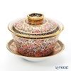 Buran Benjarong 'Buo Jud Tong (Lotus Flower)' Multi Color Oriental Cup & Saucer (L)