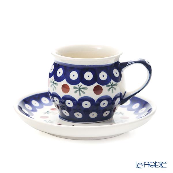 ポーリッシュポタリー(ポーランド陶器) ボレスワヴィエツ コーヒーカップ&ソーサー 160ml/14.2cm 913/710/D-41