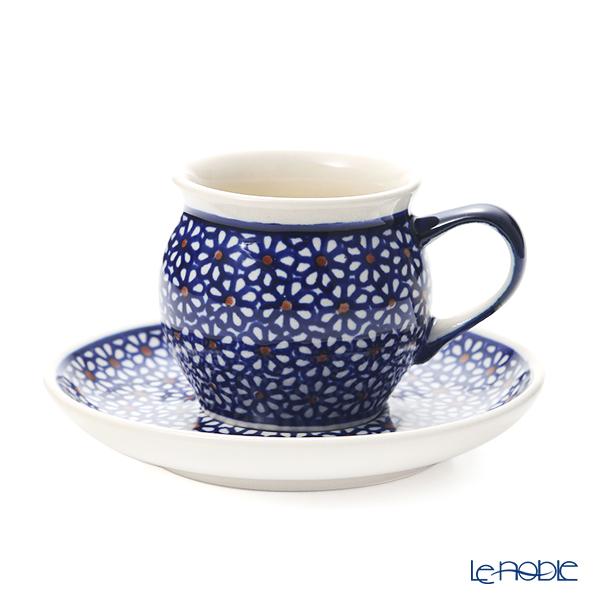ポーリッシュポタリー(ポーランド陶器) ボレスワヴィエツ コーヒーカップ&ソーサー 160ml/14.2cm 913/710/D-120