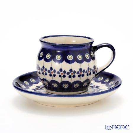 ポーリッシュポタリー(ポーランド陶器) ボレスワヴィエツコーヒーカップ&ソーサー 160ml 913/710/166A