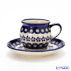 Polish Pottery Boleslawiec '166A-GU913/710' Coffee Mug Cup & Saucer 160ml