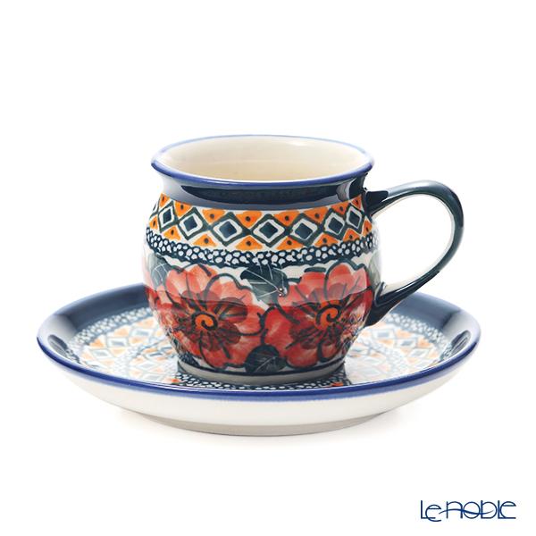 ポーリッシュポタリー(ポーランド陶器) ボレスワヴィエツ コーヒーカップ&ソーサー 160ml/14.2cm 913/710/ART-124 アートコレクション