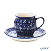 Paulish Pottery Boleswawiec Coffee Cup & Saucer 160ml/14.2cm 913/710/A-226A