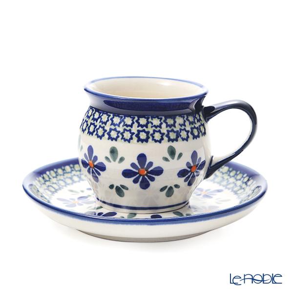 ポーリッシュポタリー(ポーランド陶器) ボレスワヴィエツ コーヒーカップ&ソーサー 160ml/14.2cm 913/710/DU-60