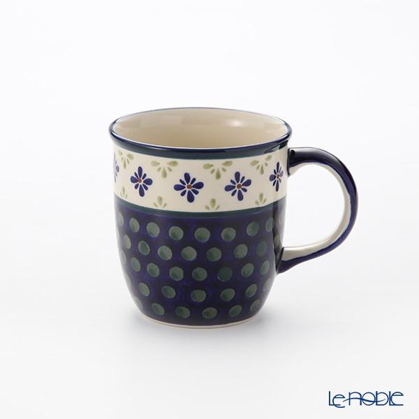 ポーリッシュポタリー(ポーランド陶器) ボレスワヴィエツ マグ 350ml/9.7cm 1105/297A