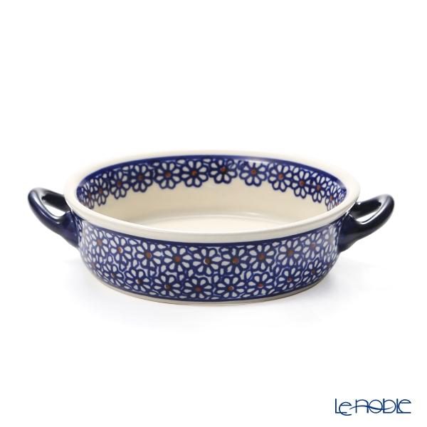 ポーリッシュポタリー(ポーランド陶器) ボレスワヴィエツ グラタン皿 18.8cm/H4.6cm 1454/D-120