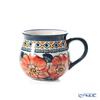 ポーリッシュポタリー(ポーランド陶器) ボレスワヴィエツマグカップ 220ml/8cm 1452/ART-124 アートコレクション