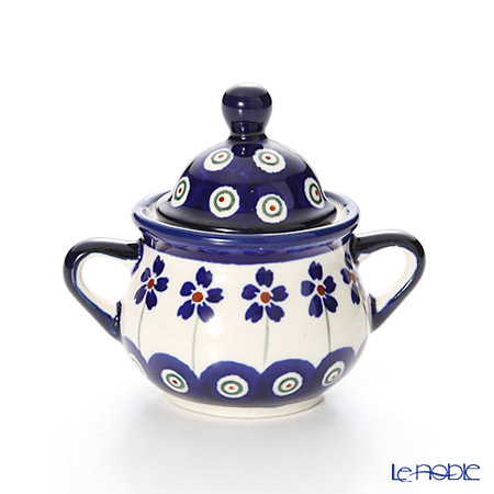 ポーリッシュポタリー(ポーランド陶器) ボレスワヴィエツシュガーボウル 50ml/7.7cm 1115/166A