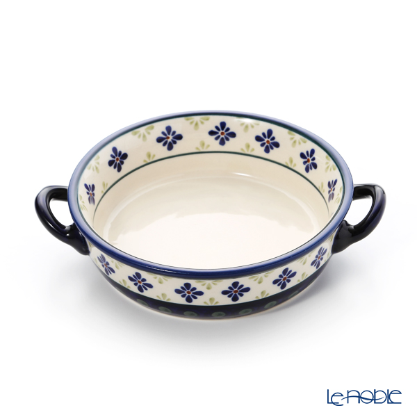 ポーリッシュポタリー(ポーランド陶器) ボレスワヴィエツ グラタン皿 18.8cm/H4.6cm 1454/297A
