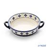 ポーリッシュポタリー(ポーランド陶器) ボレスワヴィエツグラタン皿 18.8cm/H4.6cm 1454/297A