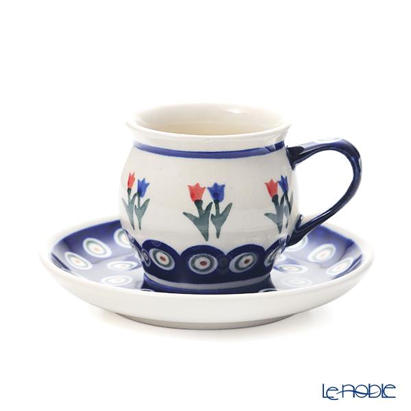 ポーリッシュポタリー(ポーランド陶器) ボレスワヴィエツ コーヒーカップ&ソーサー 160ml/14.2cm 913/710/D-809