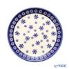 Polish Pottery Boleslawiec '814/925A' XMAS/Christmas Snowflake Plate 19.5cm