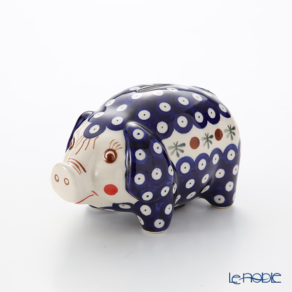 Polish Pottery Boleslawiec '41-GU1815' Piggy Bank 15.5x10xH9.5cm