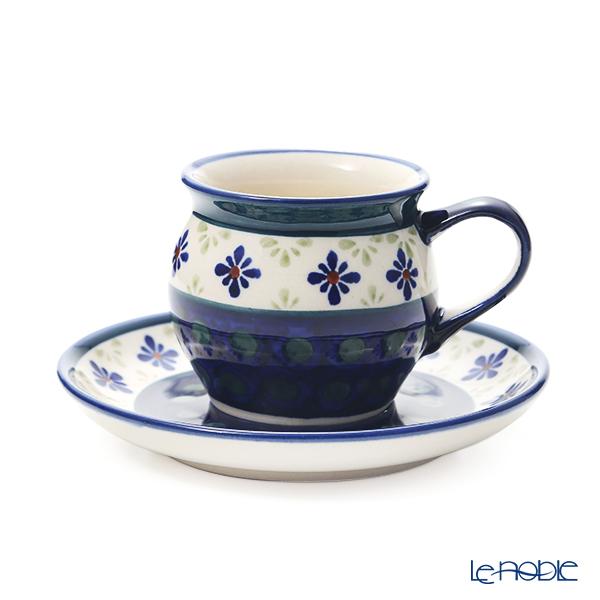 ポーリッシュポタリー(ポーランド陶器) ボレスワヴィエツ コーヒーカップ&ソーサー 160ml/14.2cm 913/710/A-297A