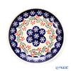 Polish Pottery Boleslawiec '814/1005' XMAS/Christmas Holly & Snowflake Plate 19.5cm