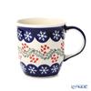 Polish Pottery Boleslawiec '1105/1005' XMAS/Christmas Holly & Snowflake Mug 350ml