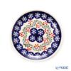 Polish Pottery Boleslawiec '818/1005' XMAS/Christmas Holly & Snowflake Plate 16cm