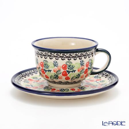 ポーリッシュポタリー(ポーランド陶器) ボレスワヴィエツ ティーカップ&ソーサー 220ml 775/836/DU158
