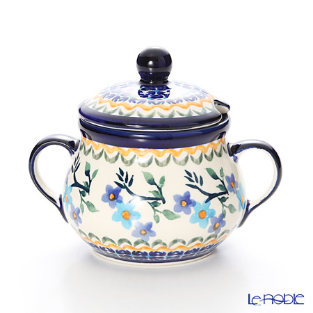 ポーリッシュポタリー(ポーランド陶器) ボレスワヴィエツシュガーボウル 250ml/9.8cm 1354/1154A