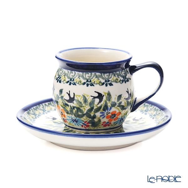 ポーリッシュポタリー(ポーランド陶器) ボレスワヴィエツ コーヒーカップ&ソーサー 160ml/14.2cm 913/710/DU-182