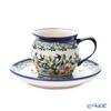 ポーリッシュポタリー(ポーランド陶器) ボレスワヴィエツコーヒーカップ&ソーサー 160ml/14.2cm 913/710/DU-182
