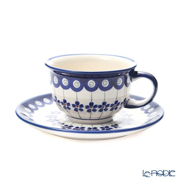 ポーリッシュポタリー(ポーランド陶器) ボレスワヴィエツ ティーカップ&ソーサー 220ml/16cm 775/836/A-166A