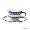 ポーリッシュポタリー(ポーランド陶器) ボレスワヴィエツティーカップ&ソーサー 220ml/16cm 775/836/A-166A