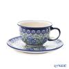 Polish Pottery Boleslawiec '775/836/A-1073A' Tea Cup & Saucer 220ml