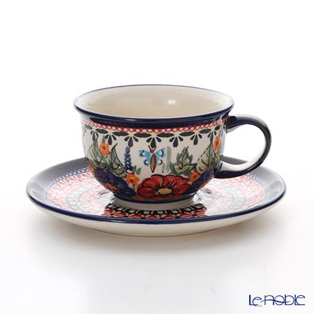 ポーリッシュポタリー(ポーランド陶器) ボレスワヴィエツ ティーカップ&ソーサー 220ml/16cm 775/836/149AR