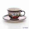 Polish Pottery Boleslawiec '149AR-GU775/836' Tea Cup & Saucer 220ml
