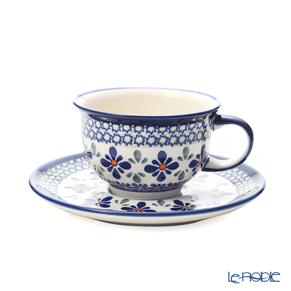 ポーリッシュポタリー(ポーランド陶器) ボレスワヴィエツ ティーカップ&ソーサー 220ml/16cm 775/836/DU-60