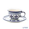 Polish Pottery Boleslawiec '775/836/DU-60' Tea Cup & Saucer 220ml