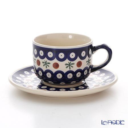 ポーリッシュポタリー(ポーランド陶器) ボレスワヴィエツ ティーカップ&ソーサー 210ml/16cm 886/883/41