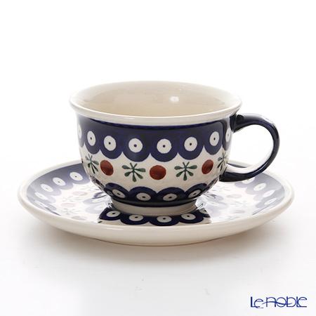ポーリッシュポタリー(ポーランド陶器) ボレスワヴィエツ ティーカップ&ソーサー 220ml/16cm 775/836/41