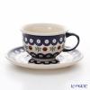 Polish Pottery Boleslawiec Tea Cup & Saucer 220ml 775/836/41