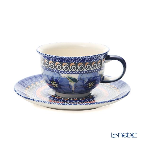 ポーリッシュポタリー(ポーランド陶器) ボレスワヴィエツ ティーカップ&ソーサー 220ml/16cm 775/836/ART-148 アートコレクション