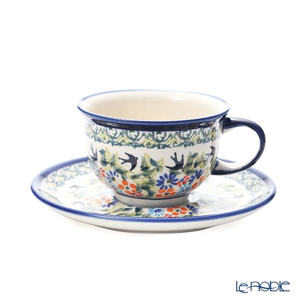 ポーリッシュポタリー(ポーランド陶器) ボレスワヴィエツ ティーカップ&ソーサー 220ml/16cm 775/836/DU-182