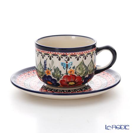 ポーリッシュポタリー(ポーランド陶器) ボレスワヴィエツ ティーカップ&ソーサー 210ml/16cm 886/883/149AR